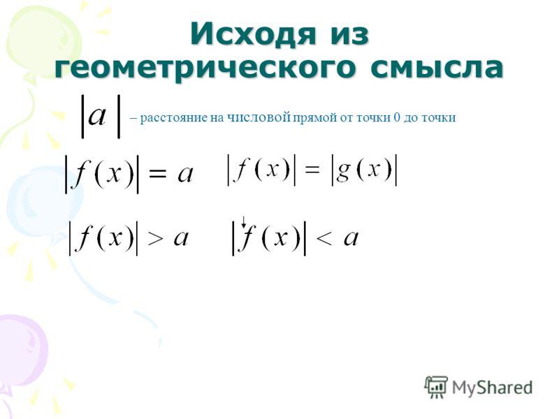 Исходя из геометрического смысла – расстояние на числовой прямой от точки 0 до точки