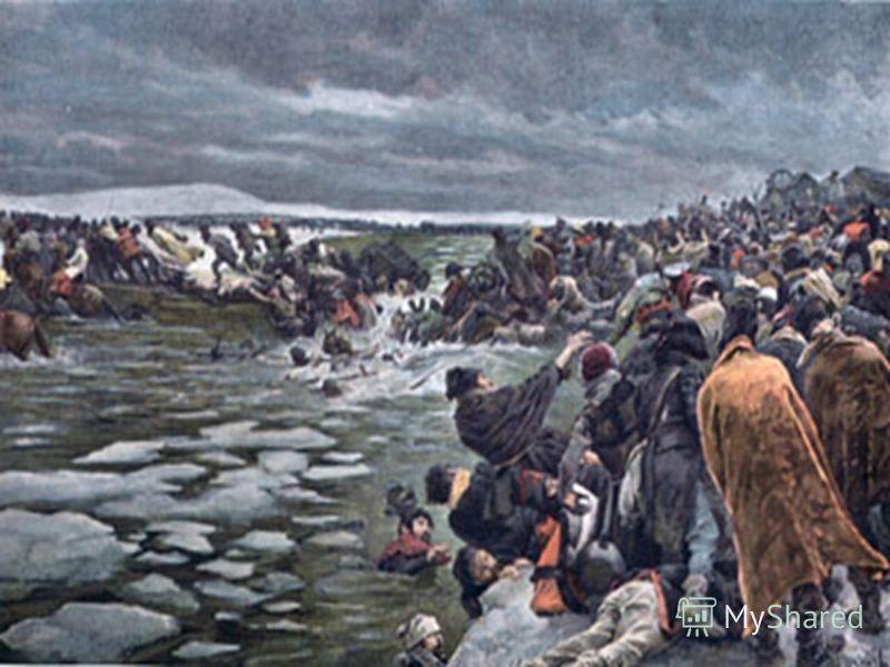 Переправа французских войск через реку Березину