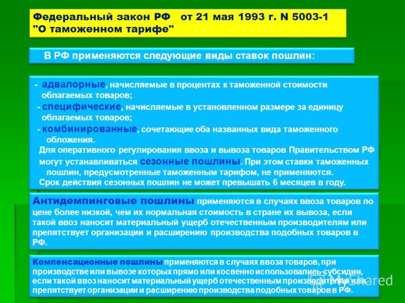 Федеральный закон РФ от 21 мая 1993 г. N 5003-1