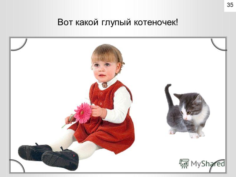 А котенок как выскочит, как побежит, - все увидели, что это котенок – усатый, полосатый. 34