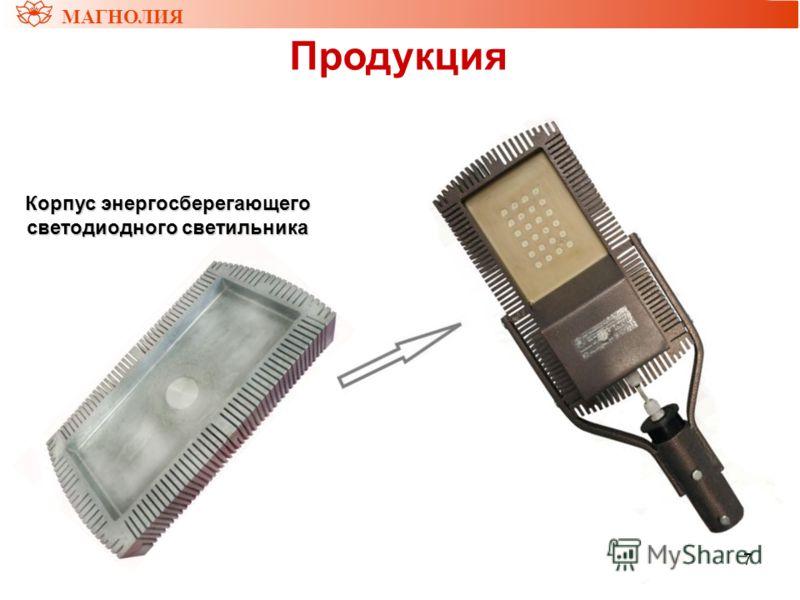 7 МАГНОЛИЯ Продукция Корпус энергосберегающего светодиодного светильника
