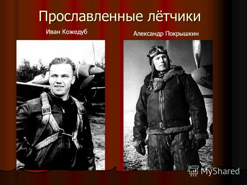 Александр Покрышкин Иван Кожедуб Прославленные лётчики