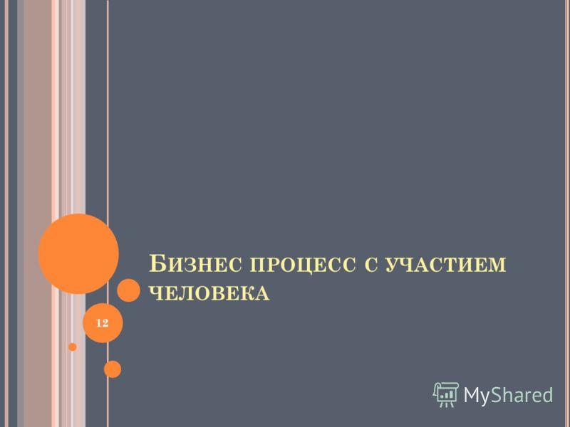Б ИЗНЕС ПРОЦЕСС С УЧАСТИЕМ ЧЕЛОВЕКА 12