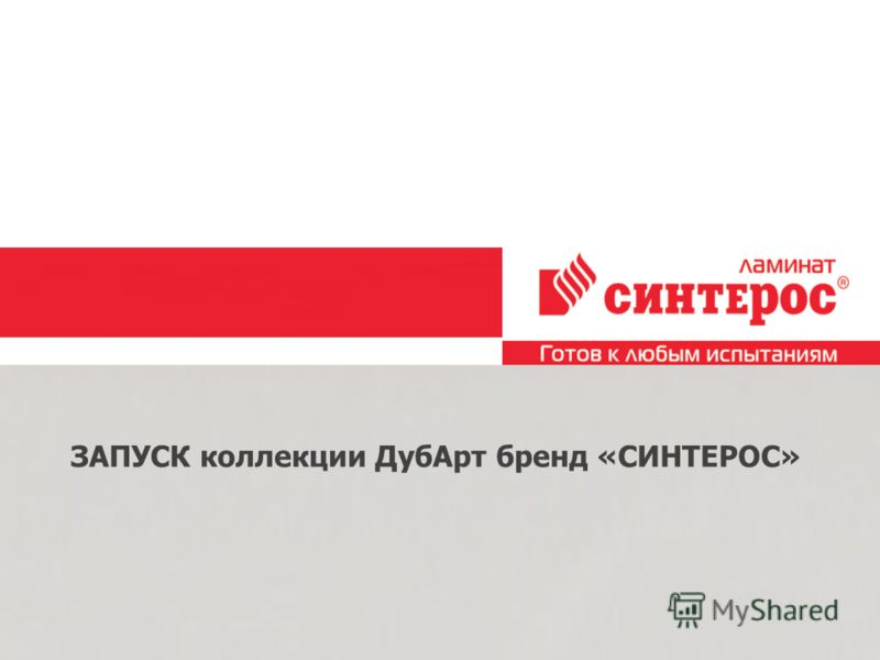 Образец подзаголовка 26.2.10 ЗАПУСК коллекции ДубАрт бренд «СИНТЕРОС»
