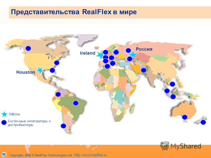 Copyright, 2006 © RealFlex Technologies Ltd. http://www.realflex.ru Офисы Системные интеграторы и дистрибьюторы Представительства RealFlex в мире Houston Ireland Россия