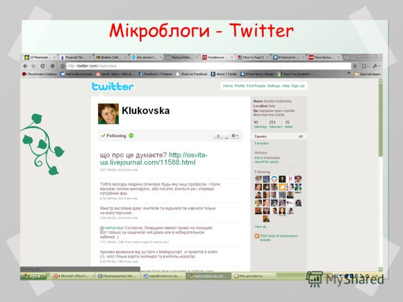 Мікроблоги - Twitter