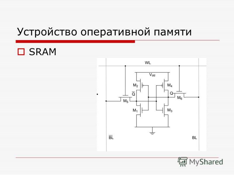 Устройство оперативной памяти SRAM