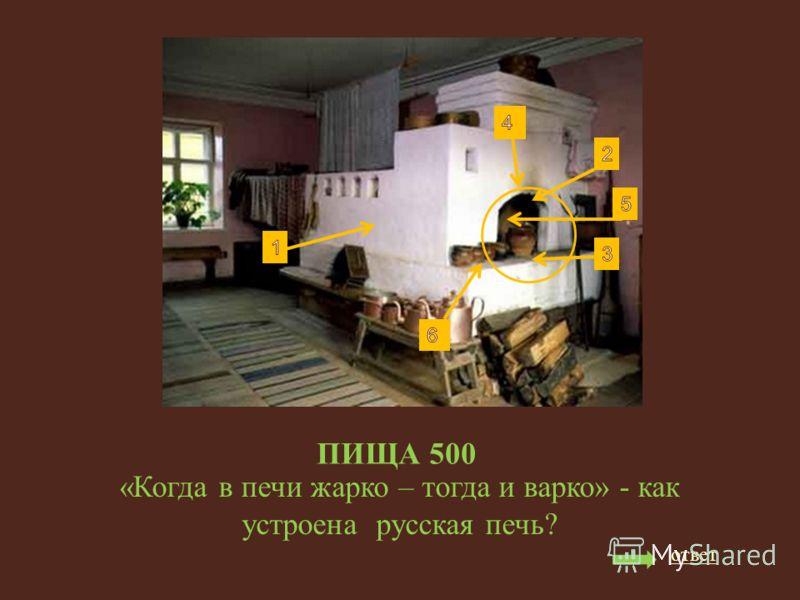ПИЩА 500 «Когда в печи жарко – тогда и варко» - как устроена русская печь? ответ