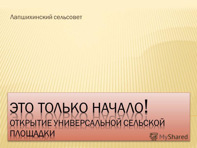 Лапшихинский сельсовет