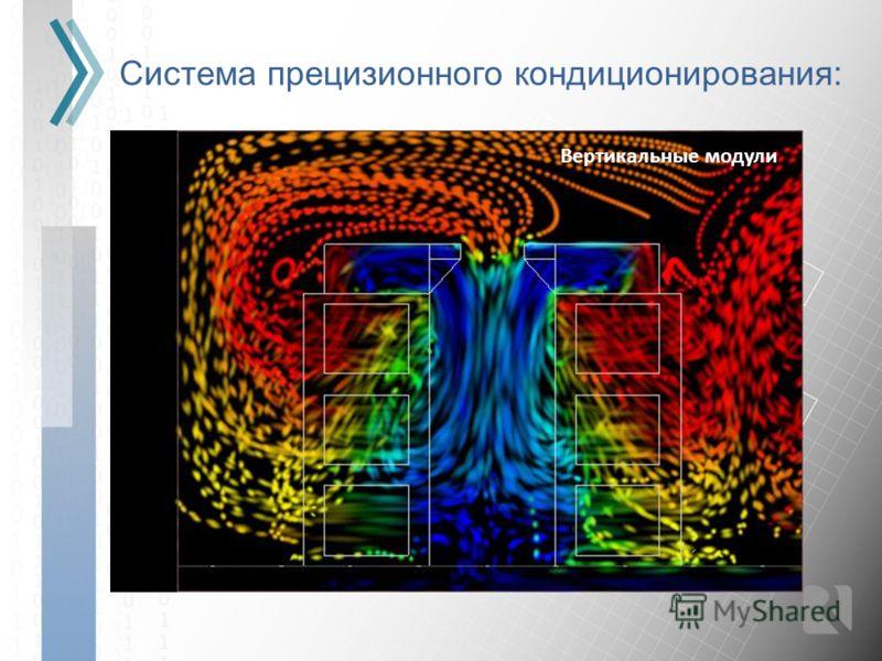 Система прецизионного кондиционирования: Вертикальные модули