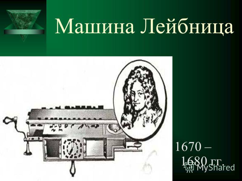 Машина Лейбница 1670 – 1680 гг.
