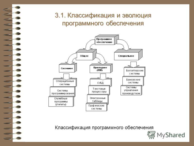 3.1. Классификация и эволюция программного обеспечения Классификация программного обеспечения
