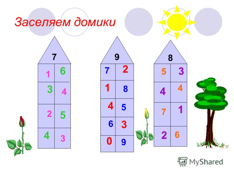 Заселяем домики 97 8 1 4 2 3 7 8 5 6 9 5 4 7 6 6 3 5 4 2 1 4 3 0 3 4 1 2