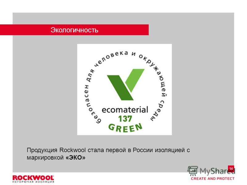 Meeting/Event name – Month date, 2011, Type of event, Country – Arial regular size 8 14 Экологичность Продукция Rockwool стала первой в России изоляцией с маркировкой «ЭКО»