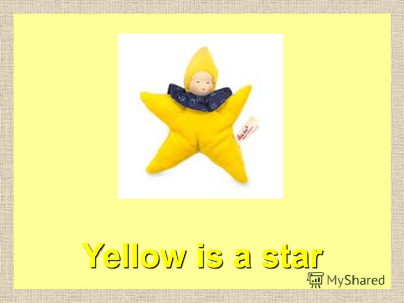 Yellow is a lemon
