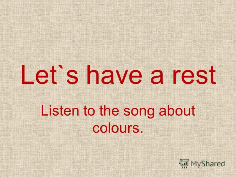 1.Какие цвета Вы услышали? 2.Перечислите предметы разных цветов, составляя словосочетания, например: A RED NOSE.