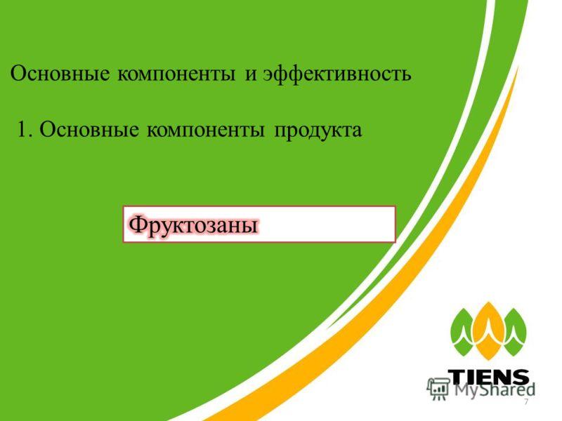 Основные компоненты и эффективность 1. Основные компоненты продукта 7