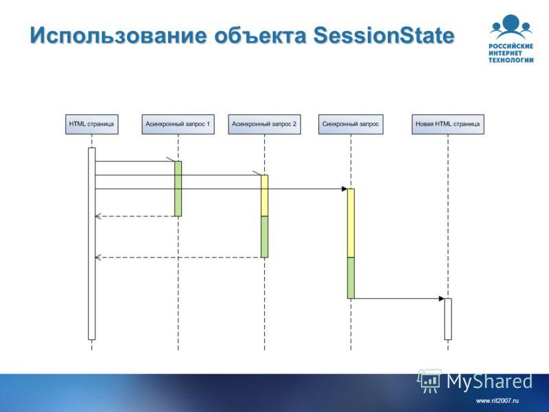 www.rit2007.ru Использование объекта SessionState