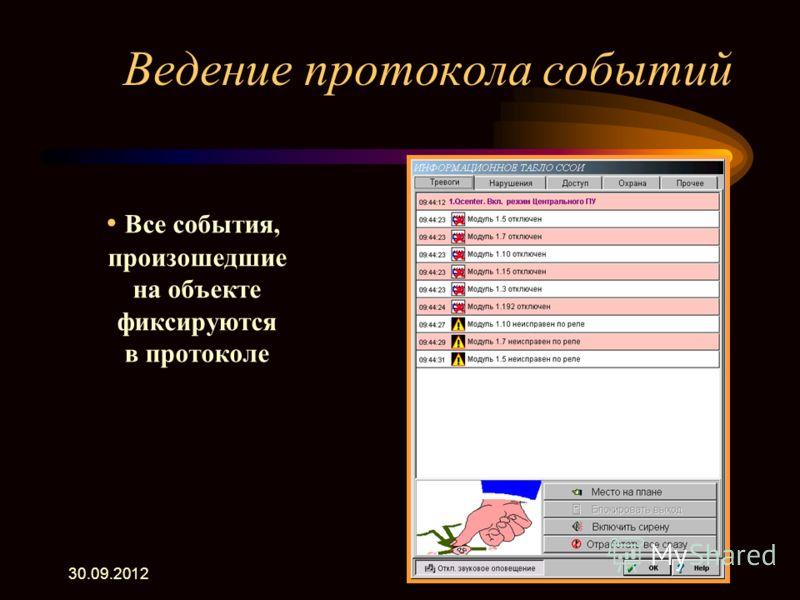 22.07.2012 Дополнительные возможности программы Центрального пульта