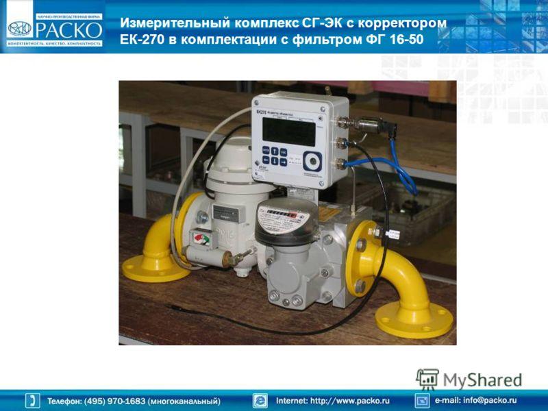 Измерительный комплекс СГ-ЭК с корректором ЕК-270 в комплектации с фильтром ФГ 16-50