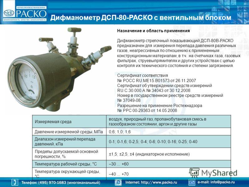 Приборы под брендом «РАСКО» для нужд ЖКХ и газовой отрасли