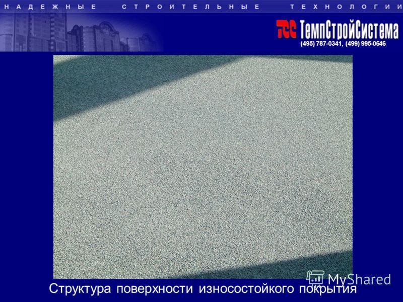 (495) 787-0341, (499) 995-0646 Структура поверхности износостойкого покрытия