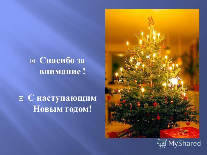Спасибо за внимание ! С наступающим Новым годом !