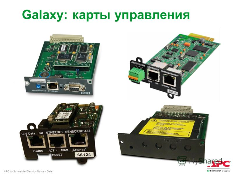 APC by Schneider Electric– Name – Date Galaxy: карты управления