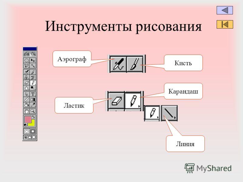 Инструменты рисования Аэрограф Ластик Кисть Карандаш Линия