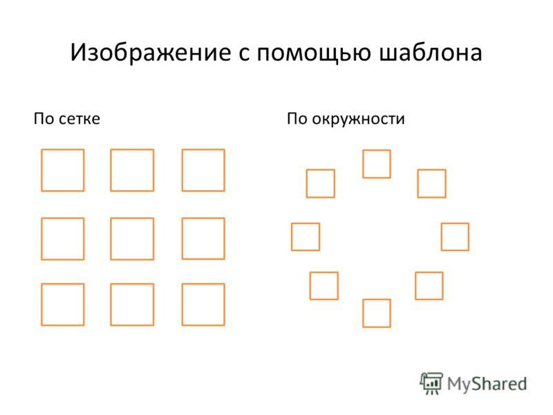 Изображение с помощью шаблона По сеткеПо окружности