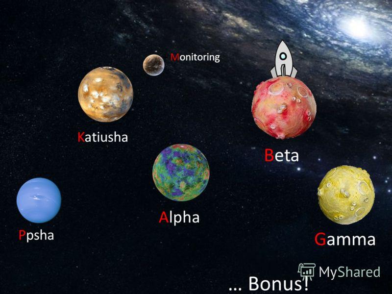 Ppsha + Monitoring Alpha Beta … Bonus! Katiusha Gamma