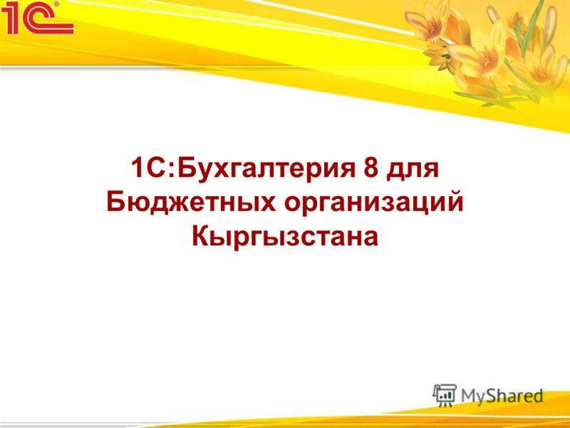 1С:Бухгалтерия 8 для Бюджетных организаций Кыргызстана