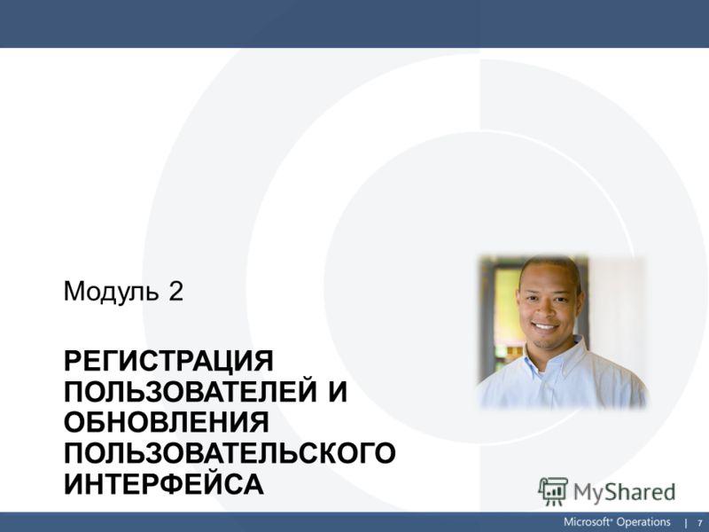 7 РЕГИСТРАЦИЯ ПОЛЬЗОВАТЕЛЕЙ И ОБНОВЛЕНИЯ ПОЛЬЗОВАТЕЛЬСКОГО ИНТЕРФЕЙСА Модуль 2
