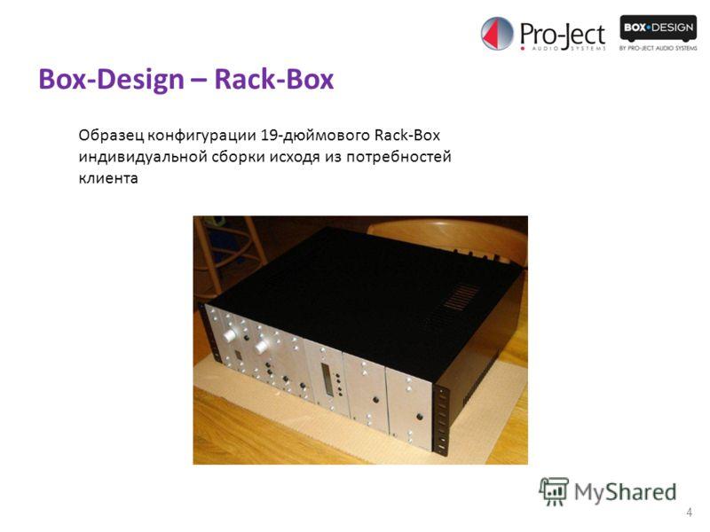 4 Box-Design – Rack-Box Образец конфигурации 19-дюймового Rack-Box индивидуальной сборки исходя из потребностей клиента
