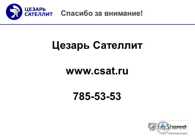 Цезарь Сателлит www.csat.ru 785-53-53 Спасибо за внимание!