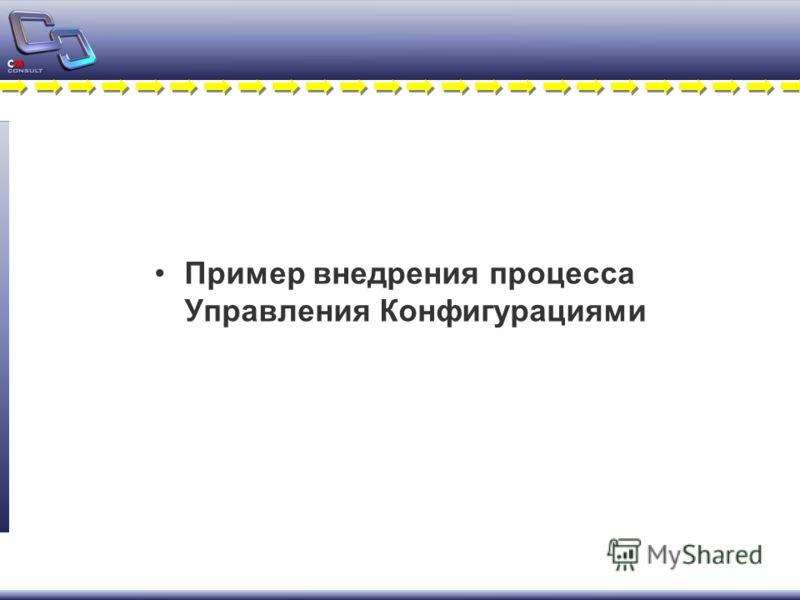 Пример внедрения процесса Управления Конфигурациями