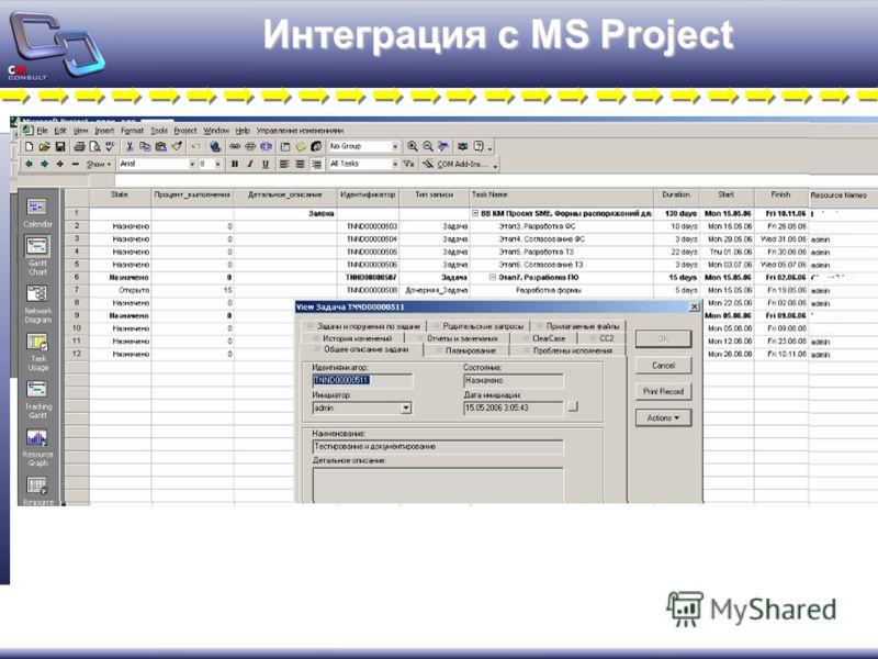 Интеграция с MS Project
