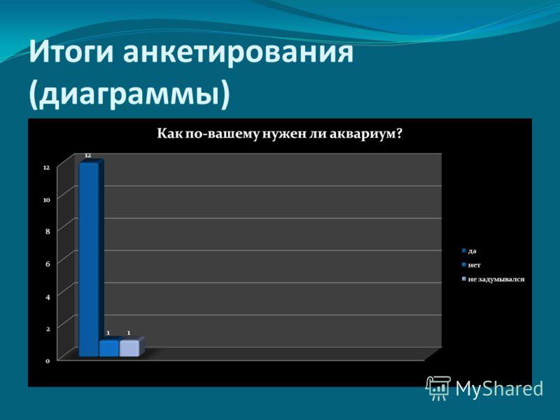 Итоги анкетирования (диаграммы)