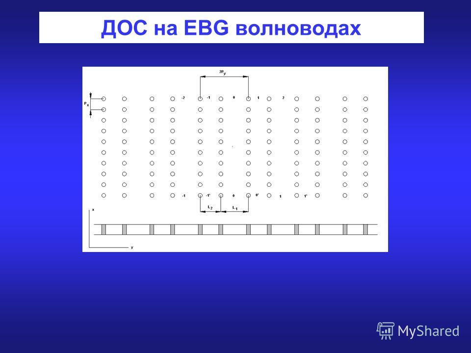 ДОС на EBG волноводах