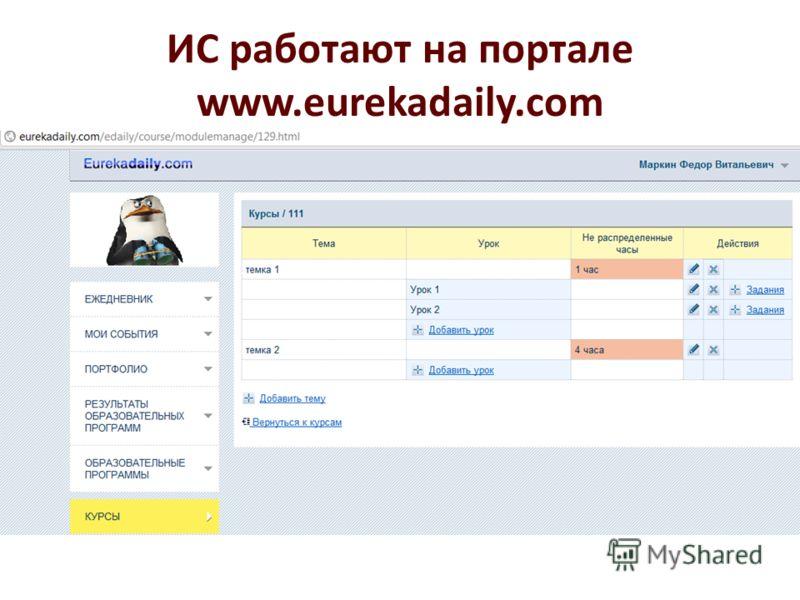 ИС работают на портале www.eurekadaily.com
