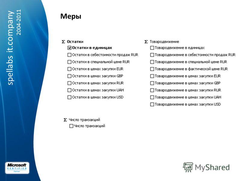 spellabs it.company 2004-2011 Меры