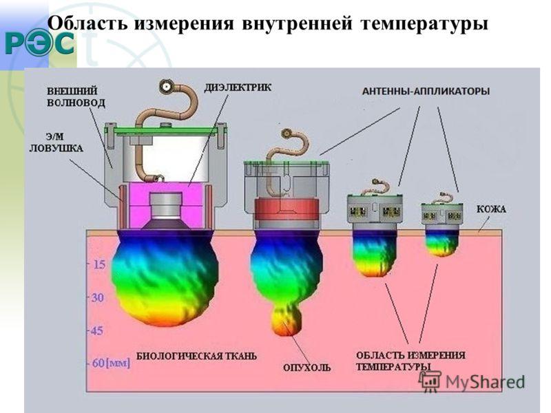 Область измерения внутренней температуры