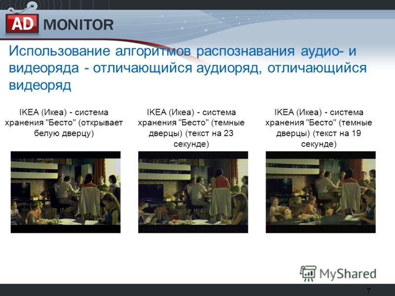 7 Использование алгоритмов распознавания аудио- и видеоряда - отличающийся аудиоряд, отличающийся видеоряд IKEA (Икеа) - система хранения