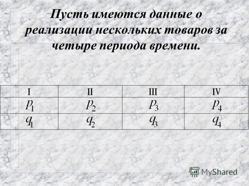 Отмеченная выше взаимосвязь безусловна только для индивидуальных индексов. Для общих же индексов эта взаимосвязь будет справедлива лишь тогда, когда общие индексы будут рассчитываться с так называемыми постоянными весами.