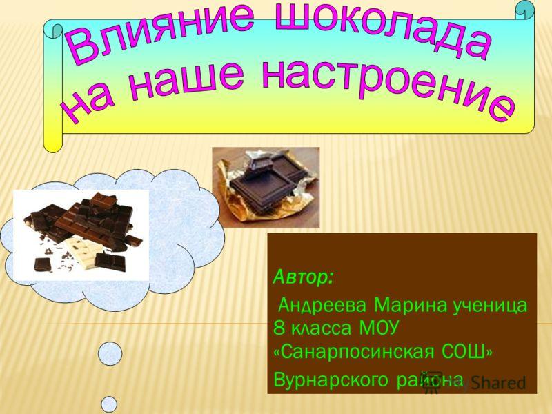 Автор: Андреева Марина ученица 8 класса МОУ «Санарпосинская СОШ» Вурнарского района