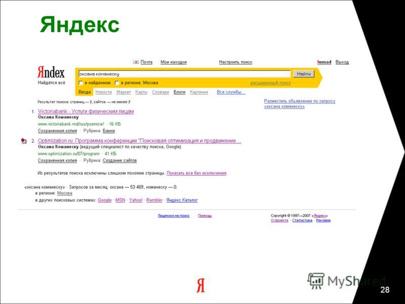 28 Яндекс