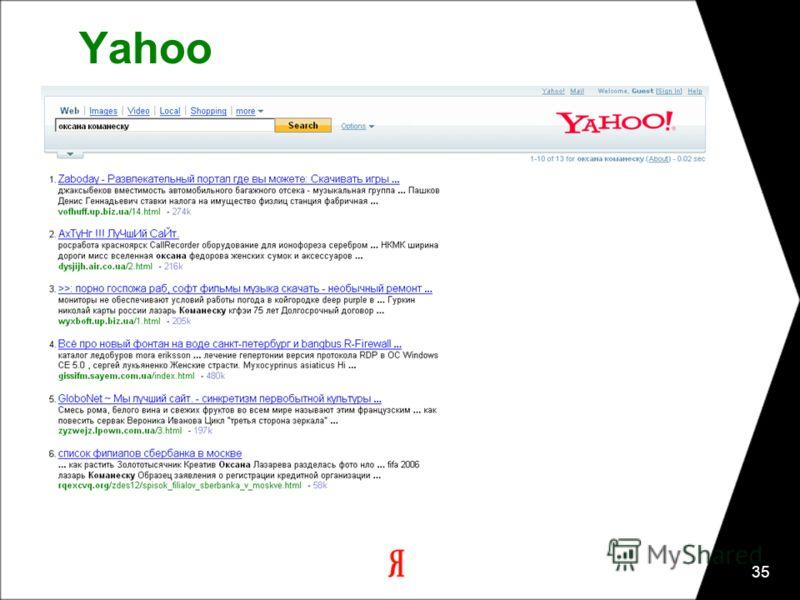 35 Yahoo