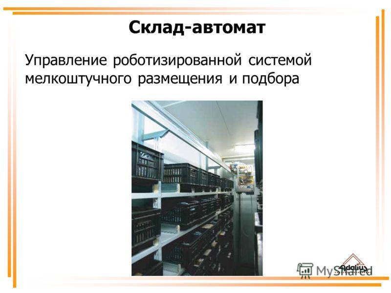Управление роботизированной системой мелкоштучного размещения и подбора Склад-автомат