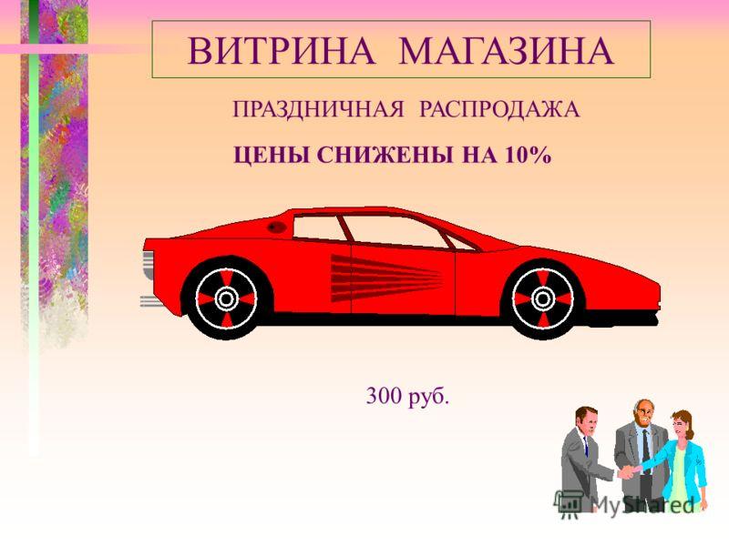ВИТРИНА МАГАЗИНА ПРАЗДНИЧНАЯ РАСПРОДАЖА ЦЕНЫ СНИЖЕНЫ НА 10% 300 руб.