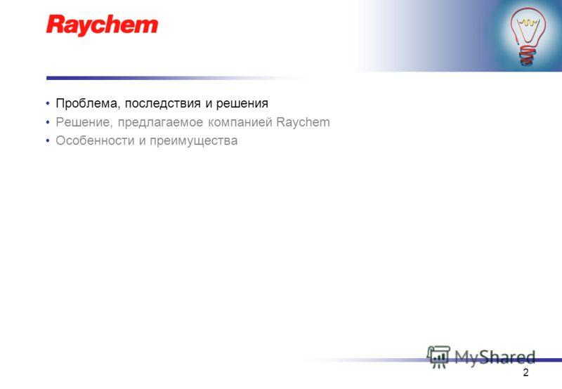 2 Проблема, последствия и решения Решение, предлагаемое компанией Raychem Особенности и преимущества